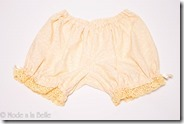 Cream Colored Bloomers - Fancy