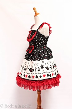 Alice in Wonderland JSK - Black Red-2