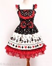 Alice in Wonderland JSK - Black Red-1
